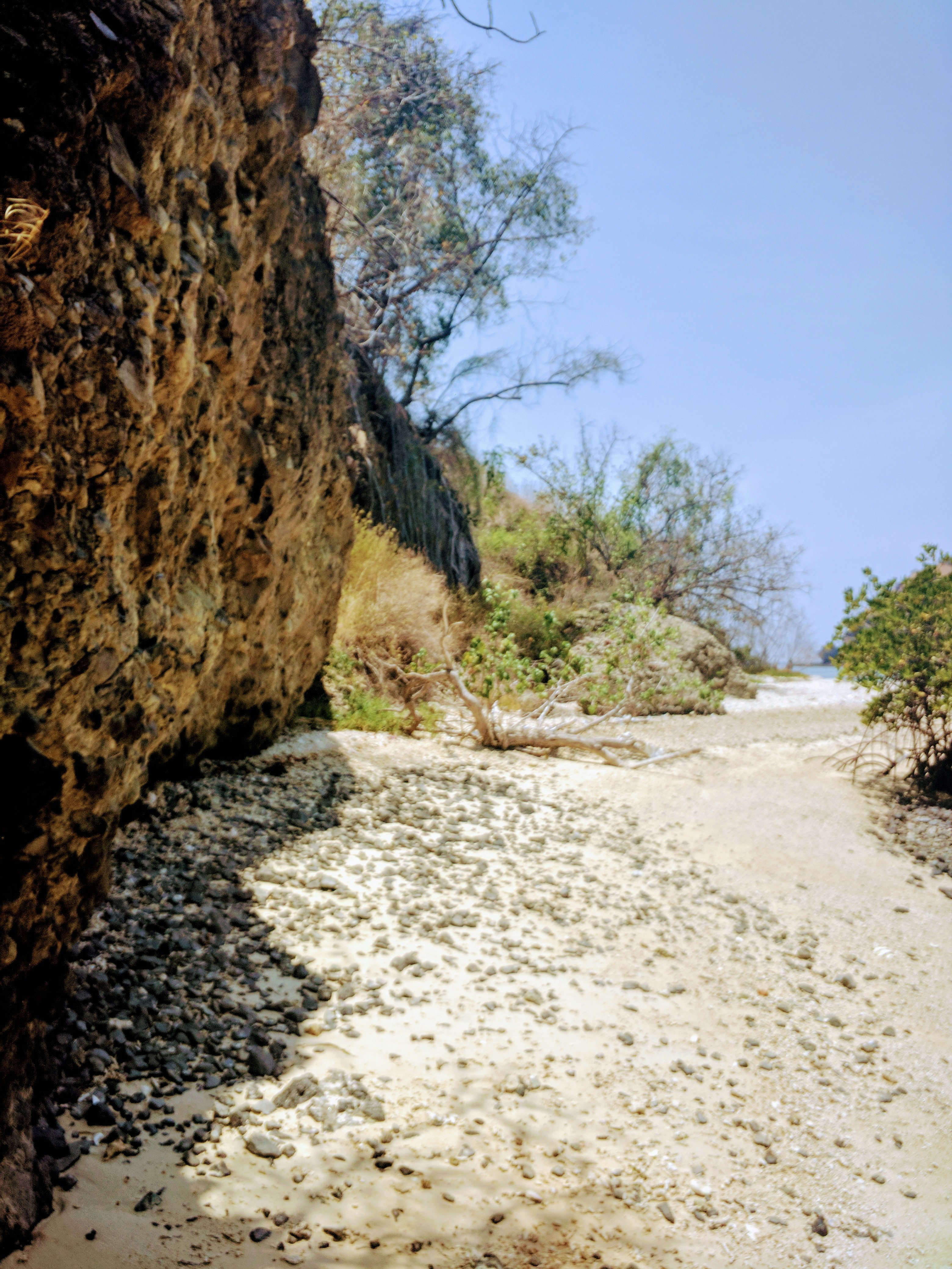 Cliffs along one of the outer islands