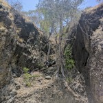 Rocky arid area that sees little water during the SE Monsoon...or dry season