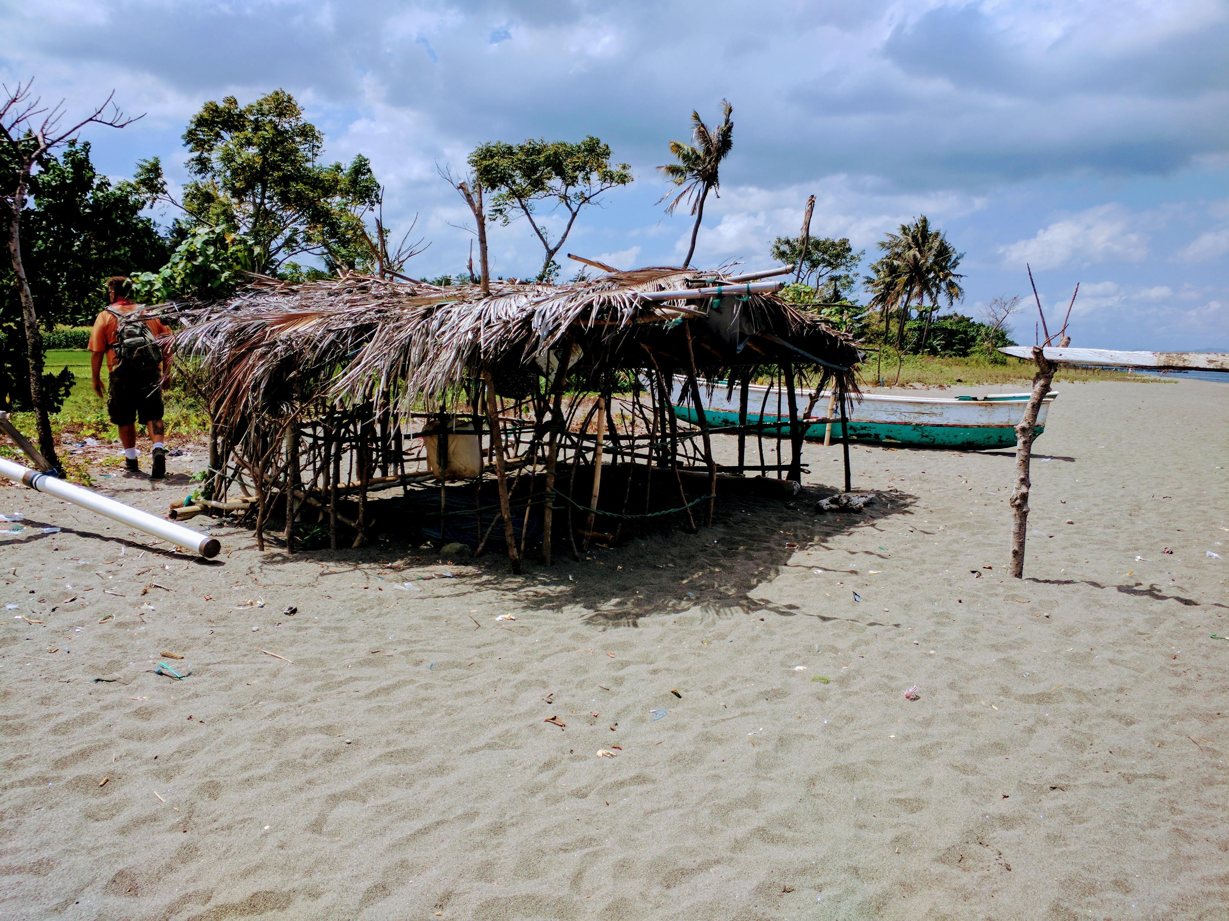 Fisherman's beach shelter